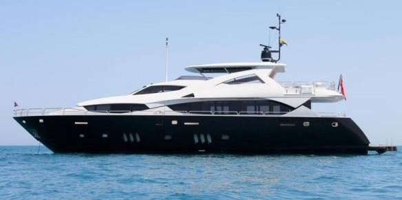 Denison Yacht Sales Sign 34m Sunseeker Tia Di Benti for Sale