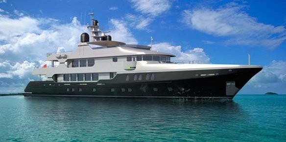 Christensen's 49m Odessa for charter with The Sacks Group