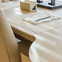 Shagreen and white oak desk detail aboard M/Y Waku