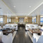 Spacious and bright living space on M/Y Waku