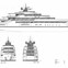 The initial sketches that brought M/Y DAGA to life