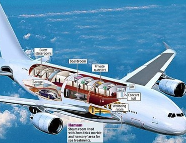 Most expensive private plane airbus a380 flying palace for The most expensive airplane
