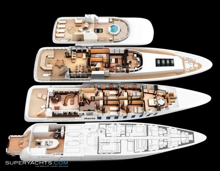 Harle Layout Feadship Motor Yacht Superyachtscom