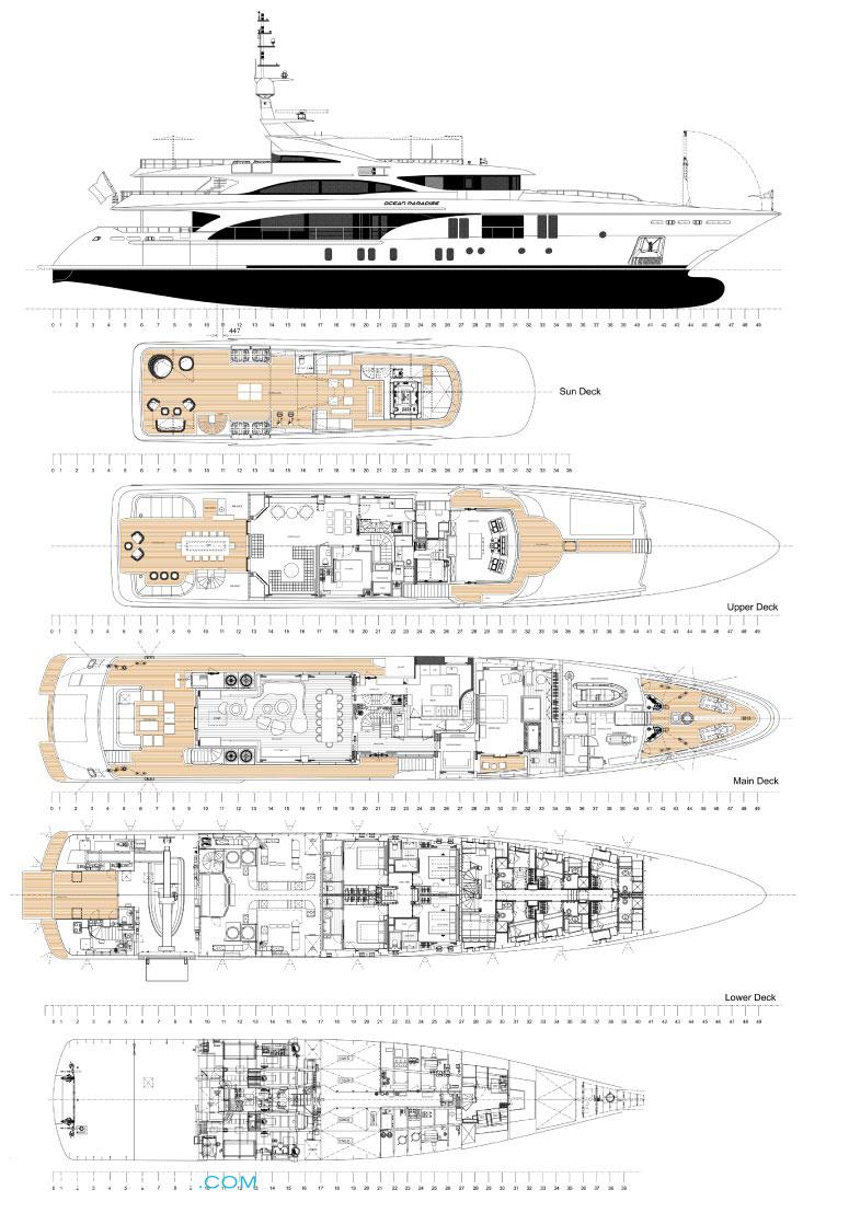 Ocean Paradise Layout Benetti Motor Yacht