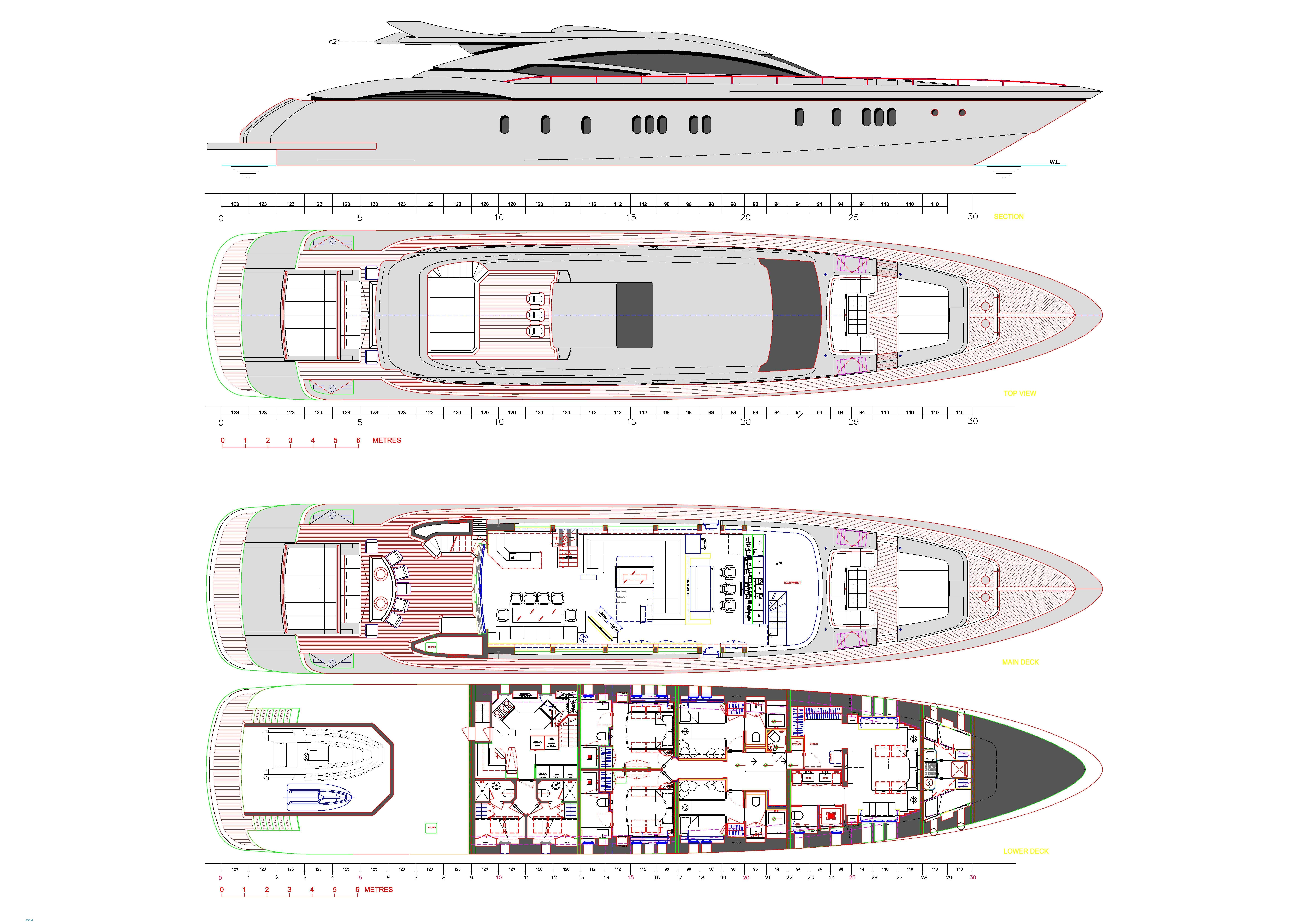 O'Pati Yacht   Layout Golden Yachts Motor..   superyachts.com