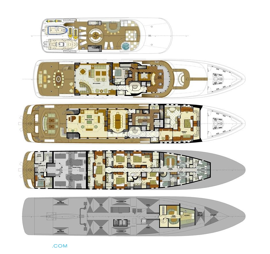 Mustique yacht layout trinity yachts motor for Deck layout plans