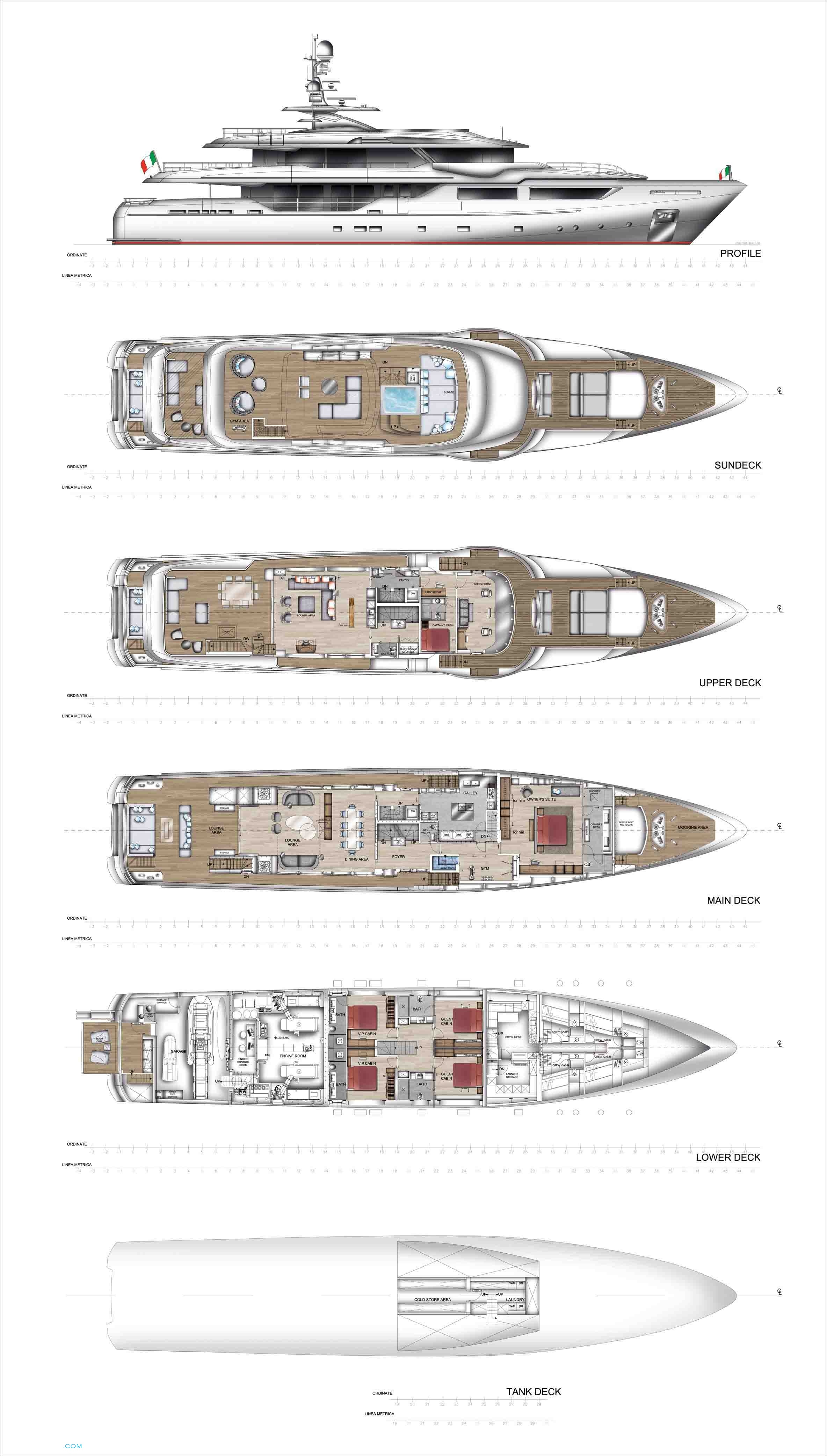 Maxima 47 yacht layout admiral motor yacht for Deck plans for sale