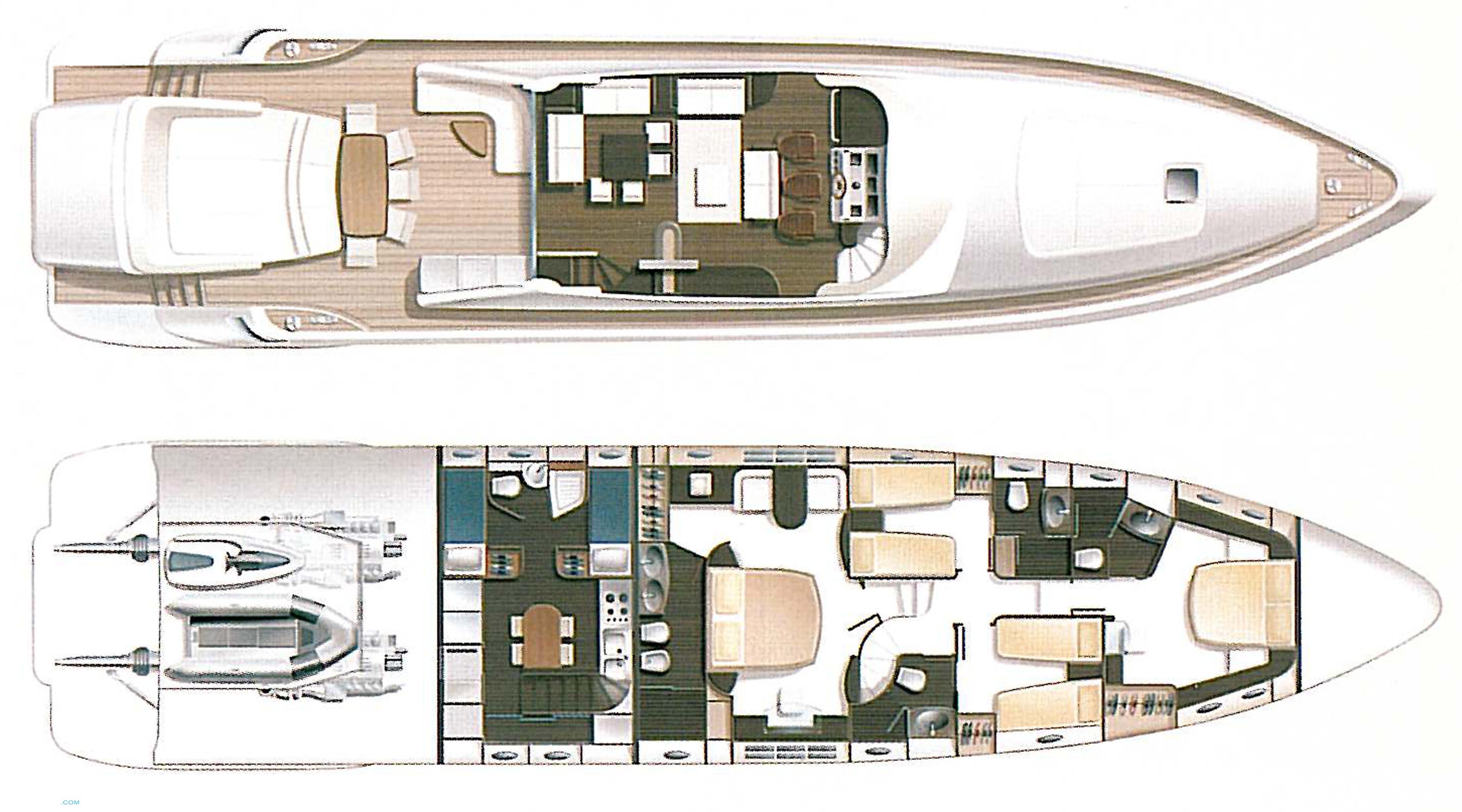 Monty Yacht   Layout Azimut Yachts Motor..   superyachts.com