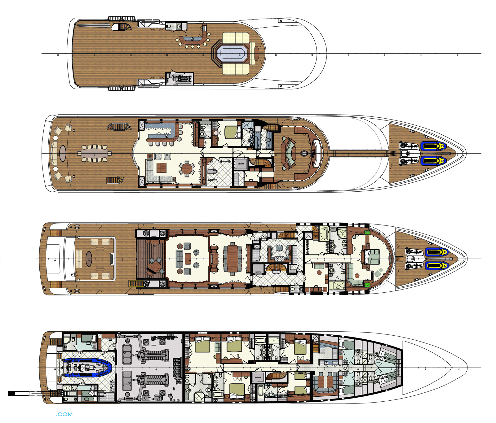 Skyfall yacht layout trinity yachts motor for Deck plans for sale