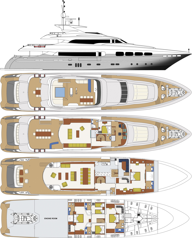 Do It Yourself Home Design: Manifiq Layout - Mondomarine Motor Yacht..