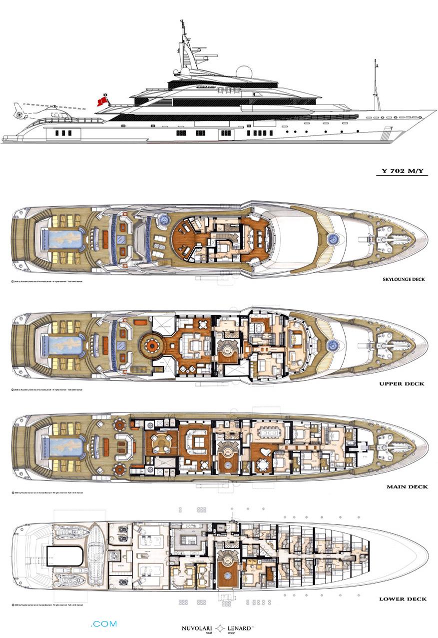 Alfa Nero Layout - Oceanco Motor Yacht   superyachts com