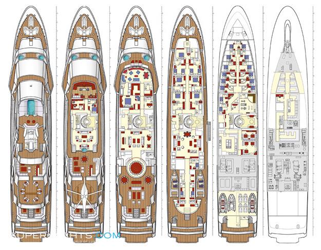 Amevi Layout - Oceanco Motor Yacht | superyachts.com