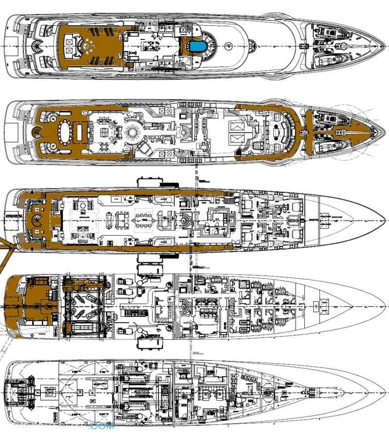 Yacht floor plans gurus floor for Deck blueprints online
