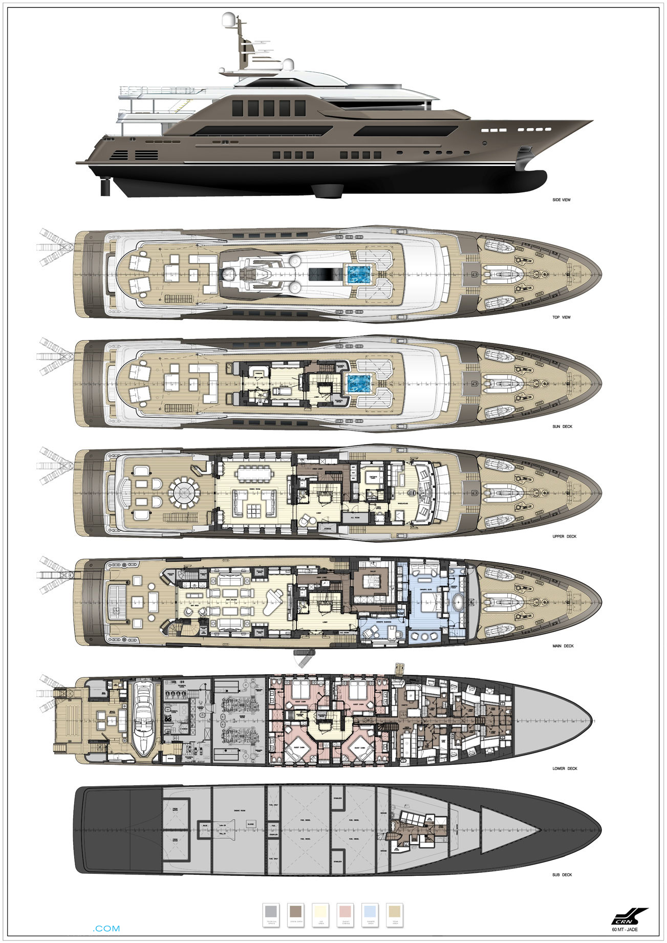 J'Ade Layout - CRN Motor Yacht | superyachts.com