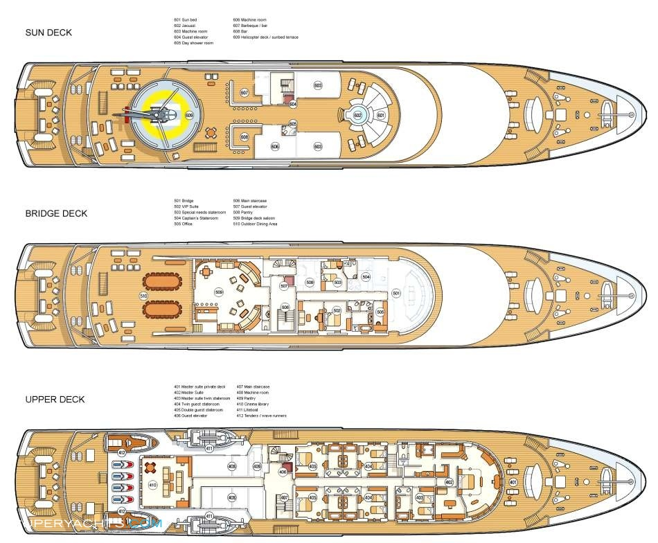 Moonlight Ii Layout on Mega Luxury Yachts Floor Plans
