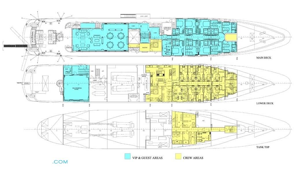 O Mega Luxury Yacht Deck Plans