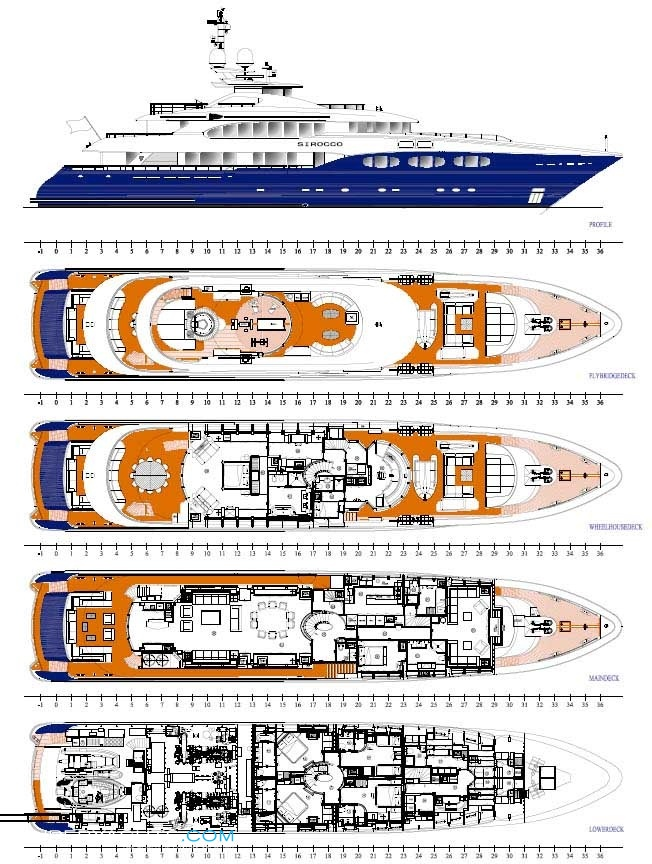 Sirocco Layout - Heesen Yachts Motor Yacht | superyachts com