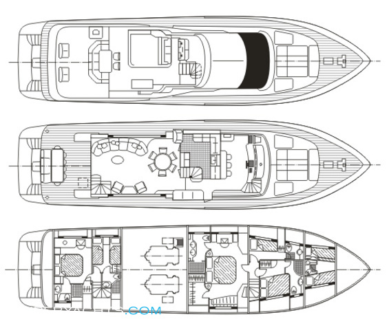 Anyway Luxury Yacht deck plans