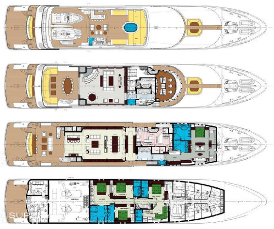 Carpe Diem Luxury Yacht deck plans