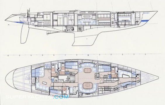 Callisto Luxury Yacht deck plans