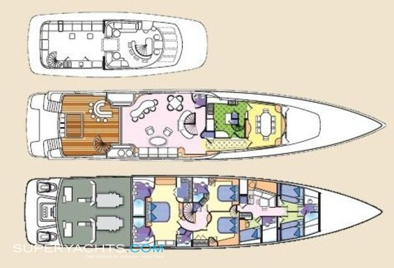 Impulsive Luxury Yacht deck plans