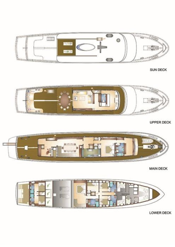 Antares of Britain Luxury Yacht deck plans