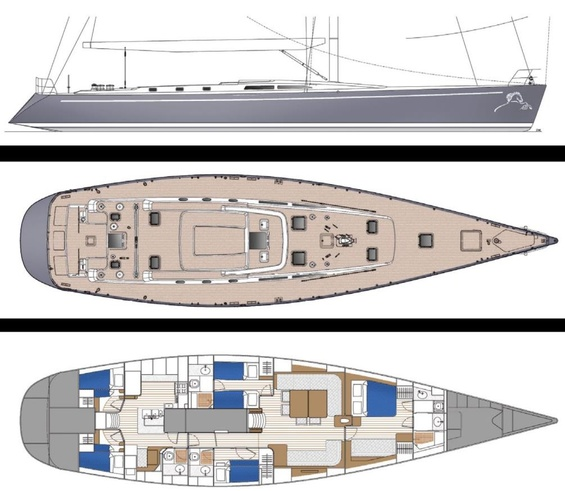 All Smoke Luxury Yacht deck plans