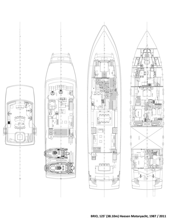 Brio Luxury Yacht deck plans