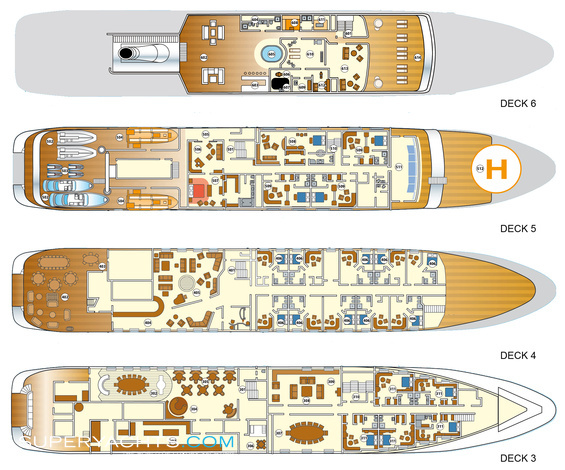 Lauren L Luxury Yacht deck plans