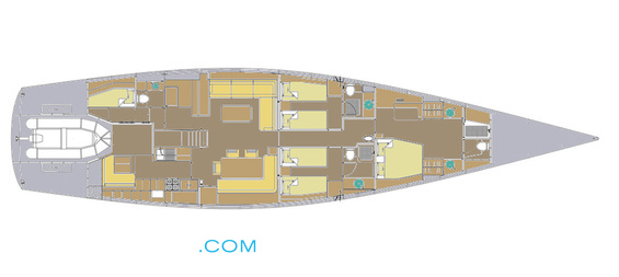 Ikigai Luxury Yacht deck plans