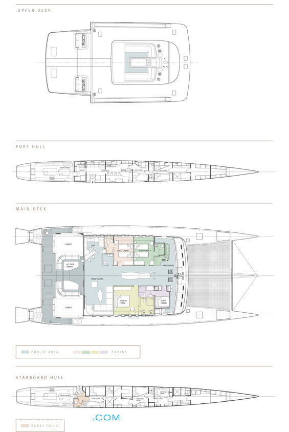 Bella Vita Luxury Yacht deck plans
