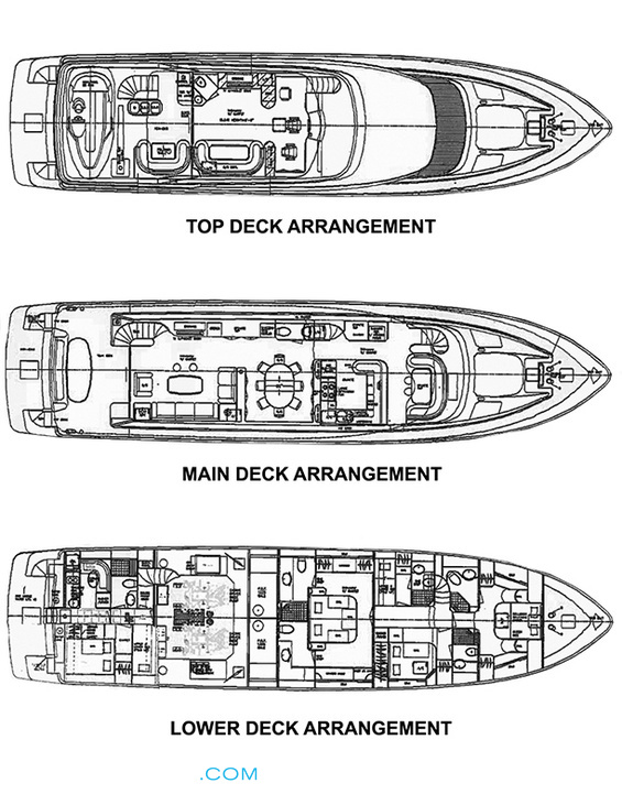 Lexington Luxury Yacht deck plans
