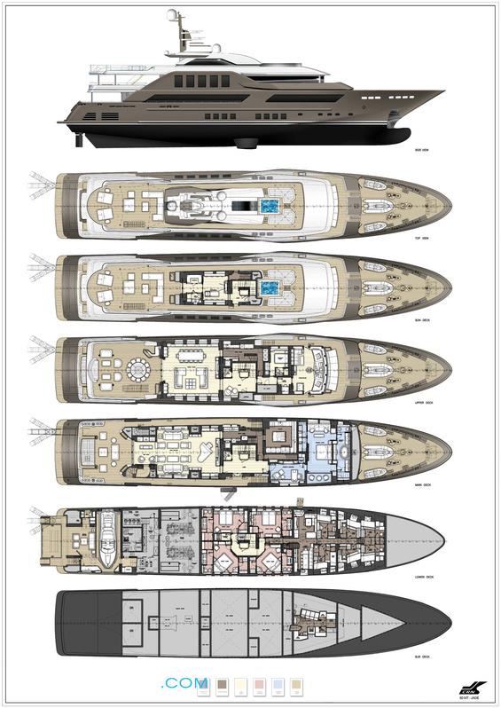 Do It Yourself Home Design: J'Ade Yacht Layout - CRN Motor Yacht