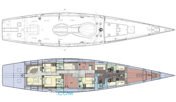 Angel's Share Luxury Yacht deck plans