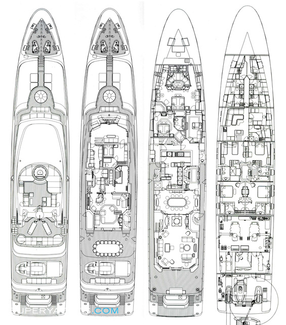 Mosaique Layout Turquoise Yachts Motor