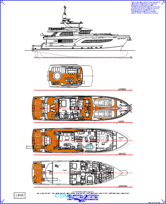 Northland Luxury Yacht deck plans