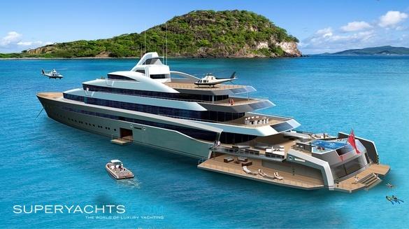 Superyachten concept  120m Superyacht Concept Yacht Concept | superyachts.com
