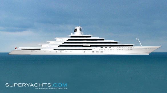 Donald Starkey 200m Yacht Concept