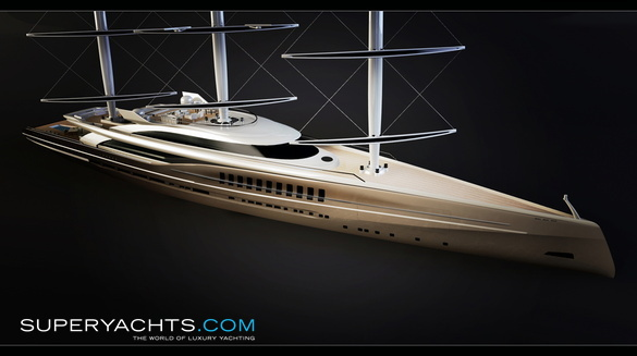 Dynarig Schooner Concept Photos   superyachts com