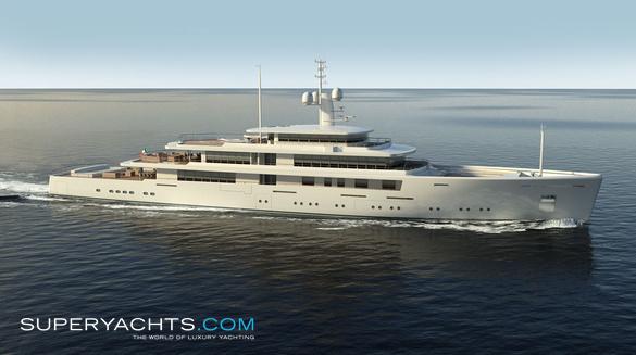 project light 80m yacht concept
