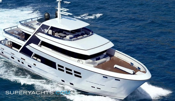 Bandido 110 yacht for sale jade yachts motor for Luxury motor boats for sale