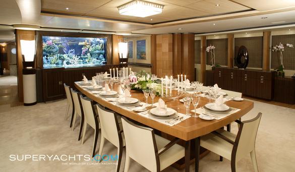 Anastasia oceanco motor yacht for Table design yacht
