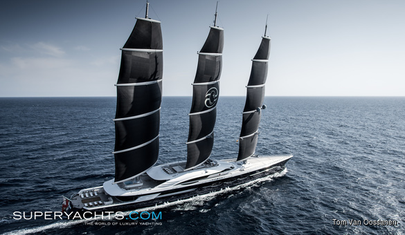 Black Pearl Luxury Sail Yacht by Oceanco
