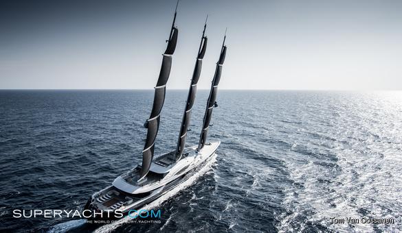 Black Pearl Oceanco Sail Yacht Superyachts Com