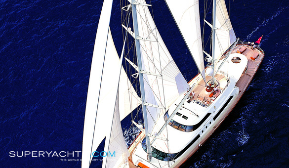 Taouey Luxury Sail Yacht by Perini Navi